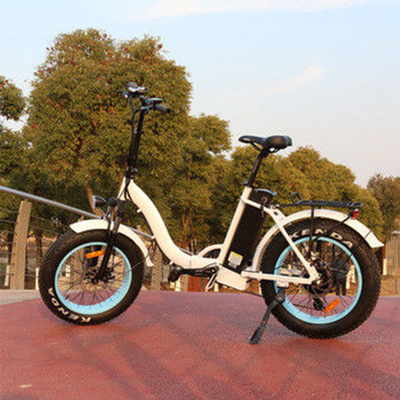 Foldable 20 Inch Fat Tire Electric Bike Wattage 351 - 500W Voltage 48V For Girls