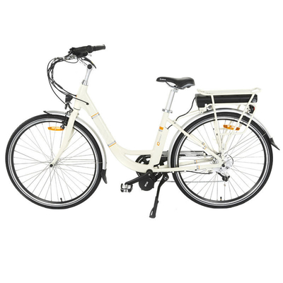 Adjustable Handle Mid Motor Electric Bike , Ladies Electric Bike With LED Mode Display