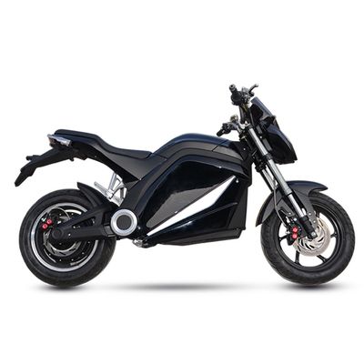 High Performance City Electric Motorcycle , Electric Motorcycle Scooter Black Color